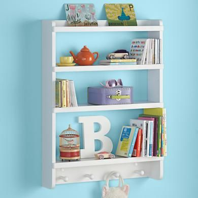 Kids Wall Rack White Hanging Wall Book Shelf Kid S Room