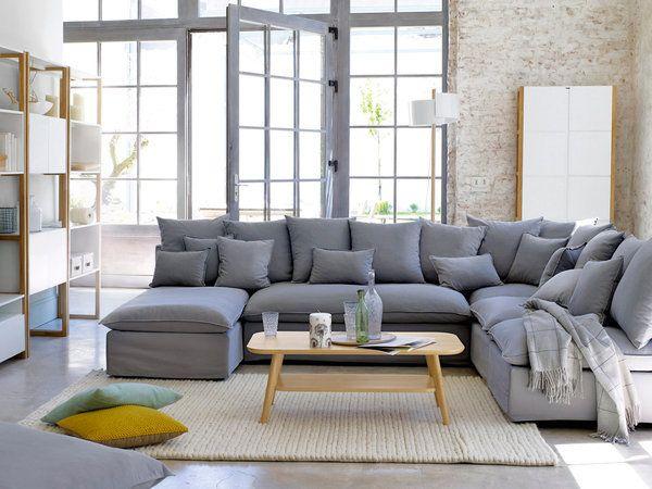 Salones modernos y c lidos mesas de centro en madera for Sofas grises modernos