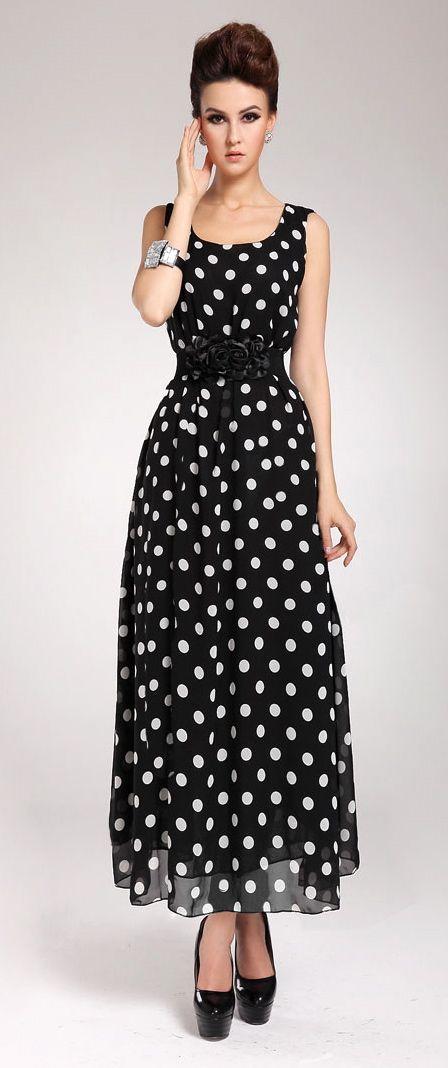 fashion polka dots dress  bbe296fd913