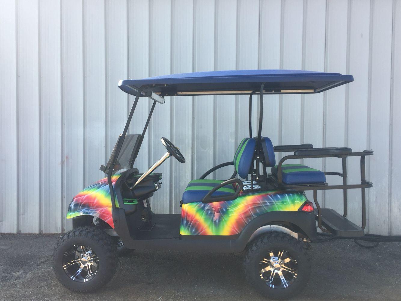 Custom tiedye golf car golf car golf golf cart parts