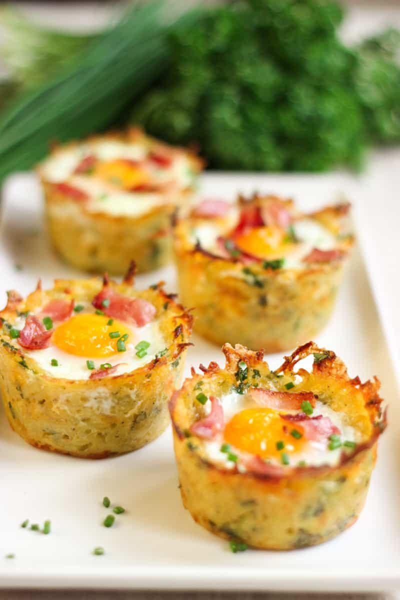 Nid de pommes de terre œufs et bacon - Elle Mijote Quelque Chose