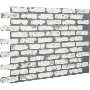Unbranded 1 4 In X 48 In X 96 In Kingston Brick Hardboard Wall Panel 278844 The Home Depot Faux Brick Walls White Brick Brick Siding
