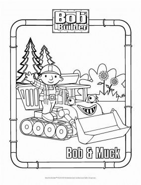 sprout character coloring pages | Bob and Muck Coloring Page – Bob the Builder Coloring ...