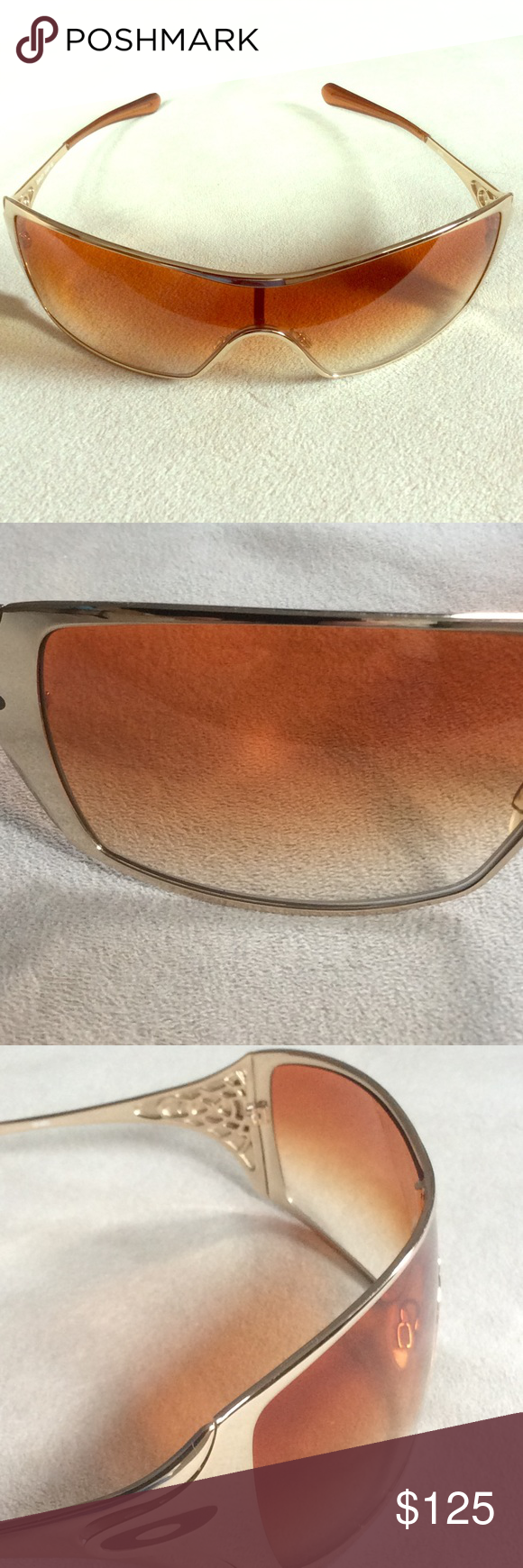 4fcbff9523e15 Woman s Oakley Dart Gold Polished Sunglasses Gradient amber lenses.  Excellent condition and has seen very little wear. Purchased new for   199.99