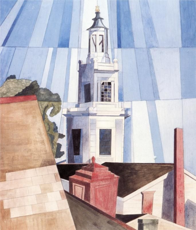 Charles Demuth (American 1883–1935) [Precisionism] The Tower, 1920.
