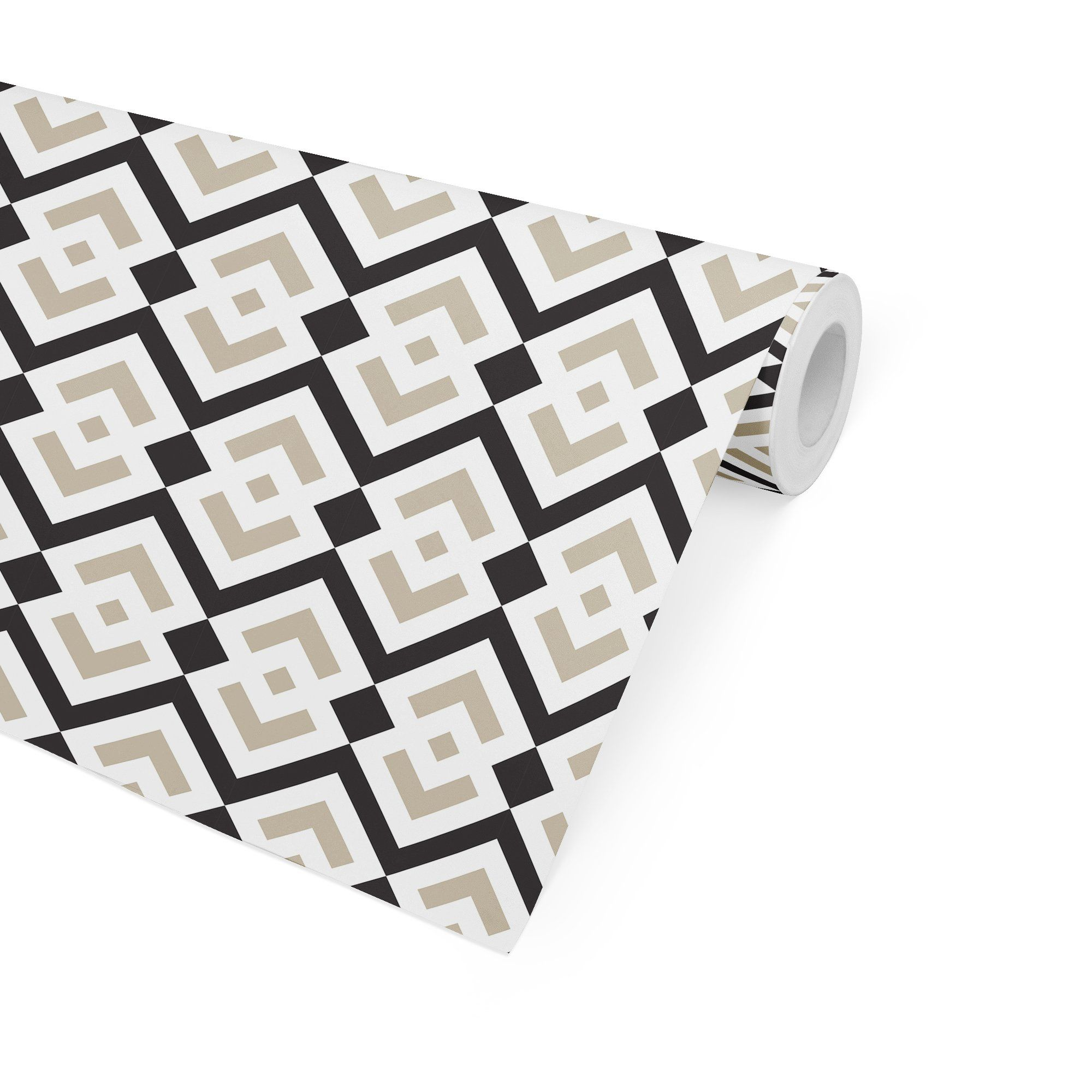PORTLAND BLACK & WHITE Peel and Stick Wallpaper By Adelaide Modern - 2ft x 16ft