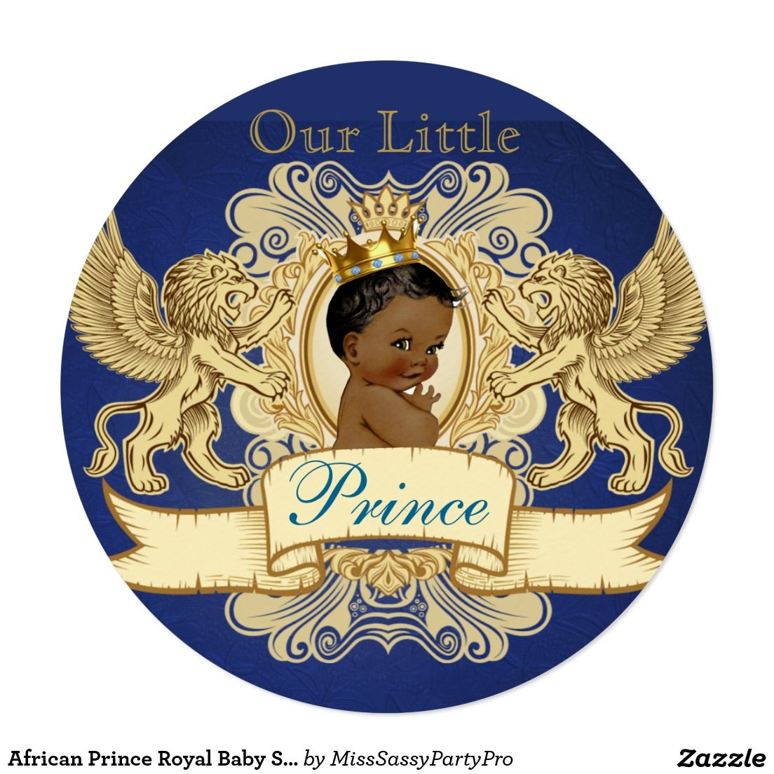 African Prince Royal Baby Shower Invitations | Baby Shower ...