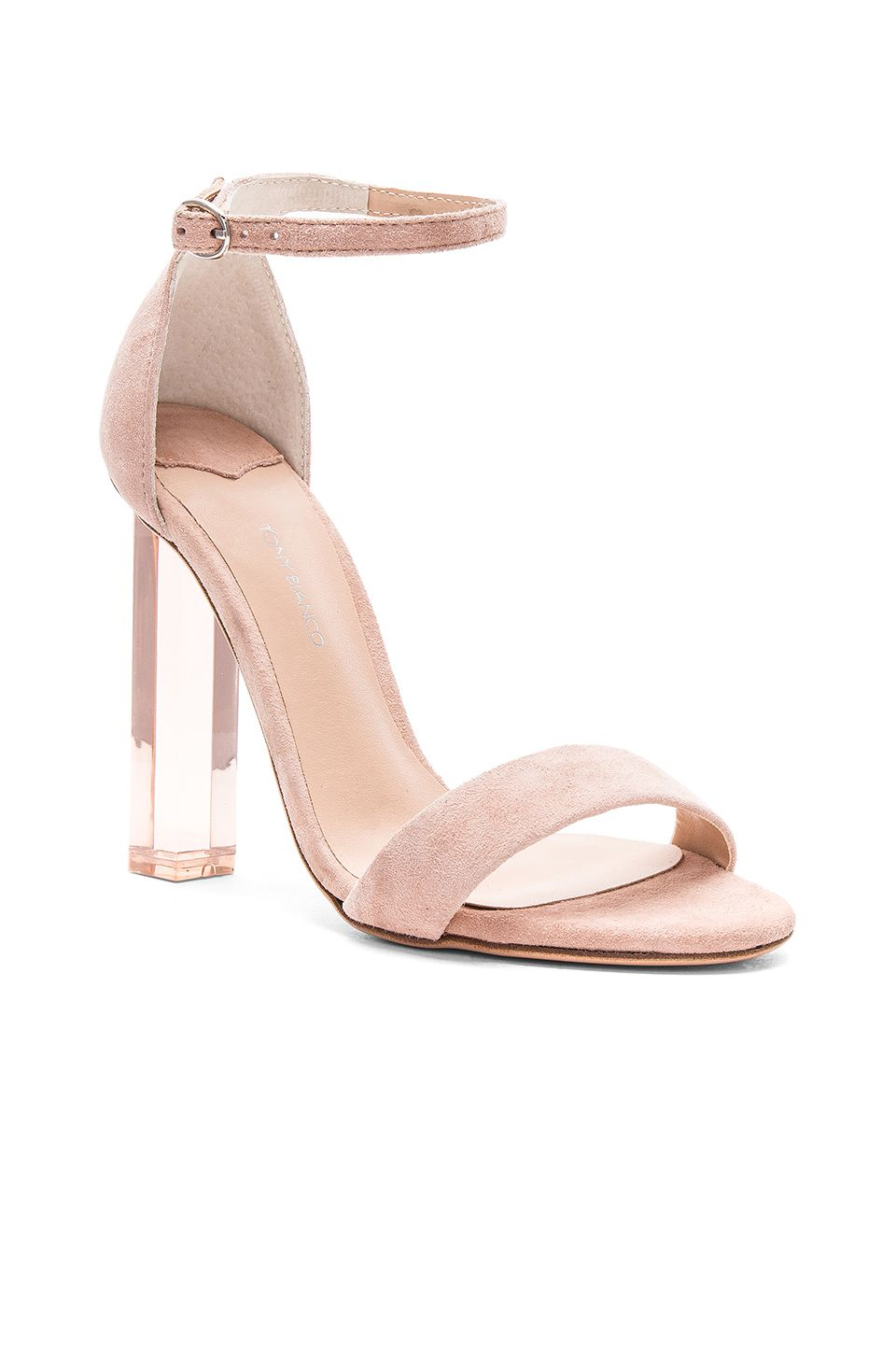 7e2d79b8657 Tony Bianco Kashmir Heel in Blush Kid Suede