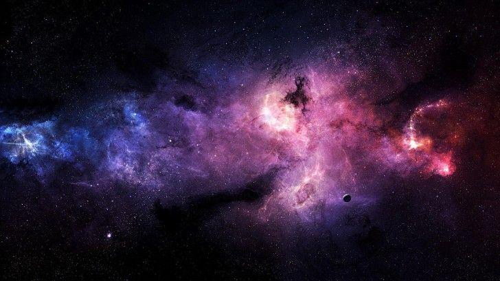 stars galaxies purple hd