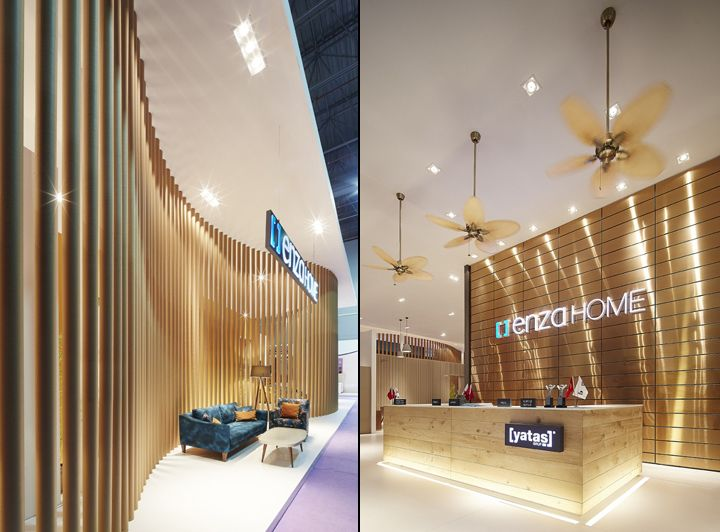 Yata Grup Enza Home Stand By Yerce Architecture At Ismob 2015 Fair Istanbul Turkey Retail