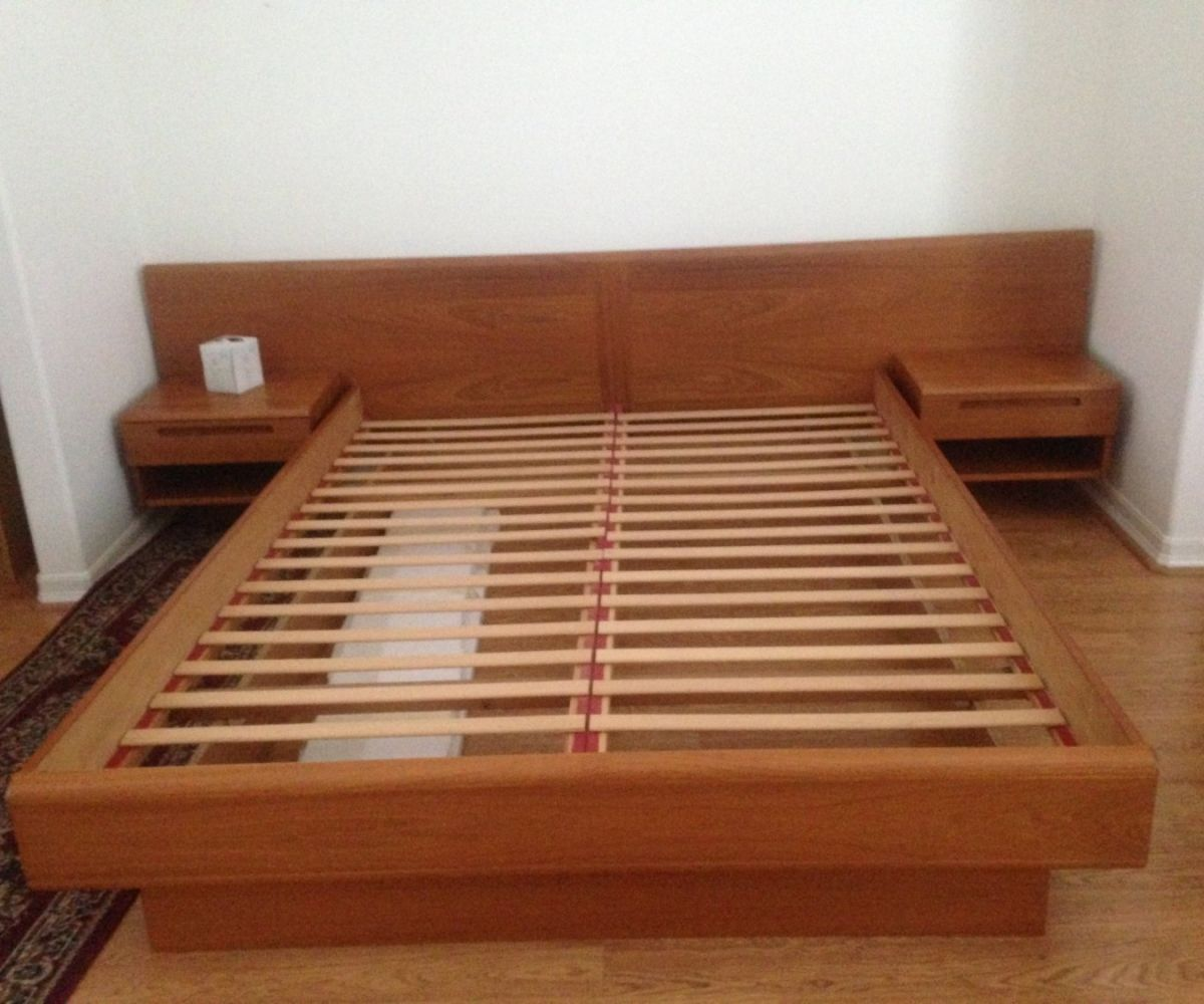 Low Nachttisch Für Plattform Bett - design und style von den night ...