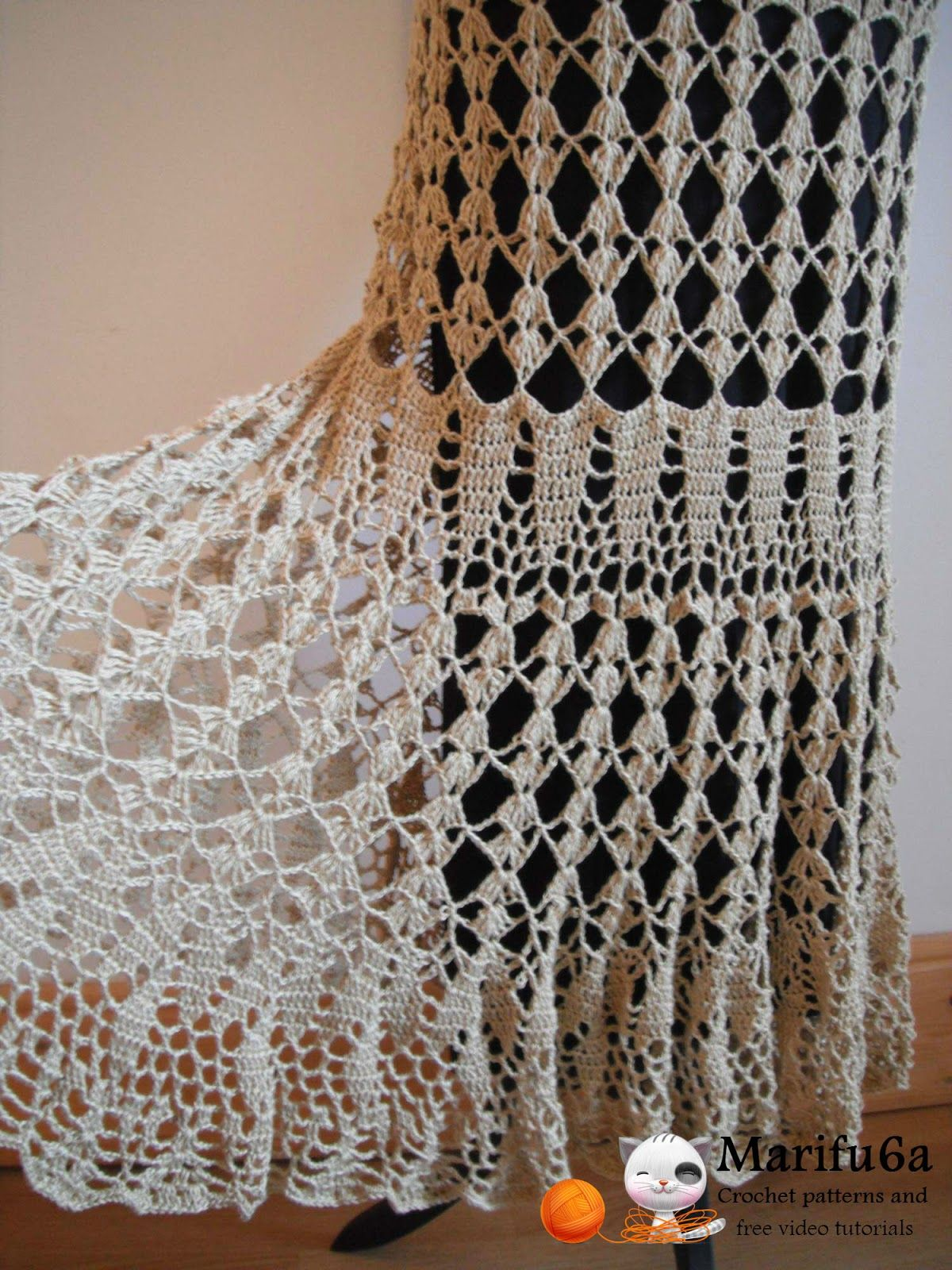 Free crochet patterns and video tutorials: How to crochet maxi skirt ...