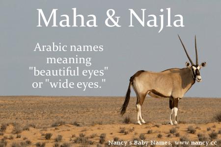 More on Maha & Najla | Arabic baby names, Baby names, Names