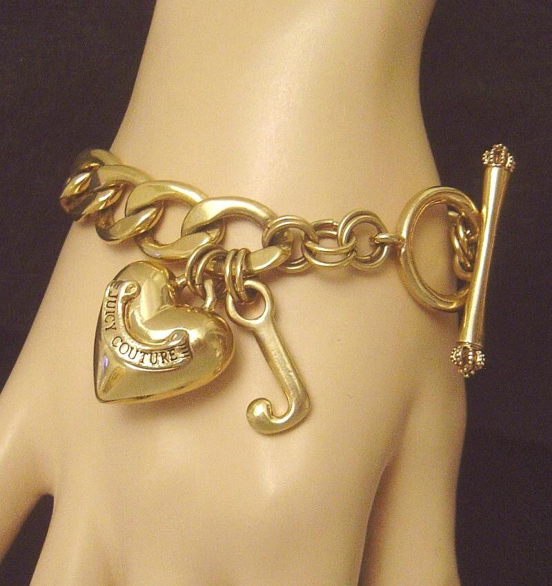 Juicy Couture Jewelry 14 Kt. gold plate Starter Heart Charm Bracelet