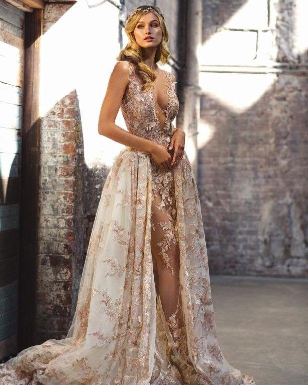 espectacular vestido de novia de galia lahav!! romántico y sensual