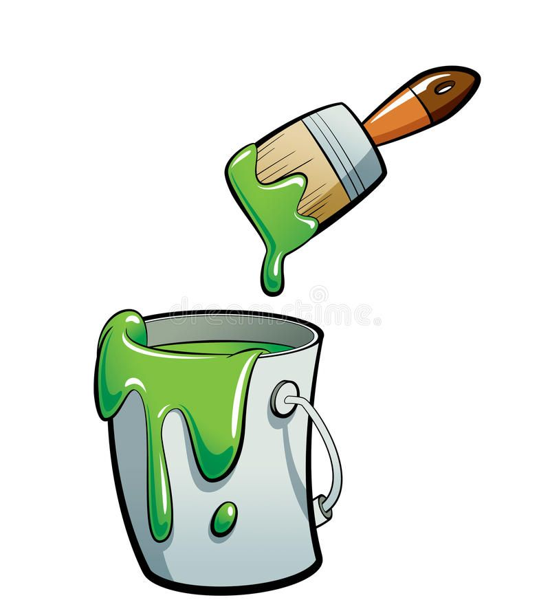 Cartoon Green Color Paint In A Paint Bucket Painting With Paint Cartoon Green C Ad Color Paint Cartoon Green Paint Buckets Green Colors Painting