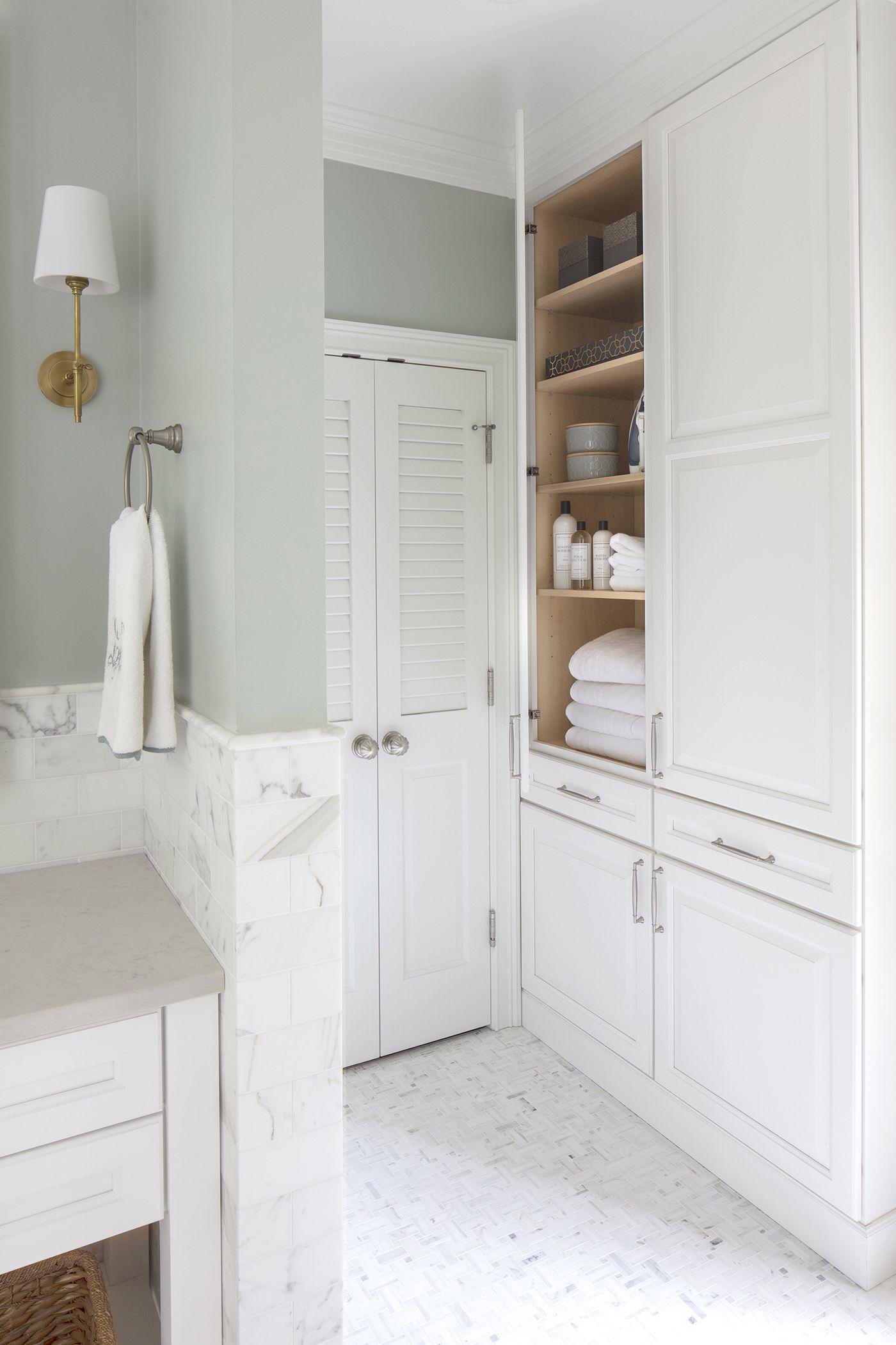 Brilliant Tips For Making Your Small Bathroom Feel Larger Bathroom Space Saver Bathroom Linen Closet Bathroom Space