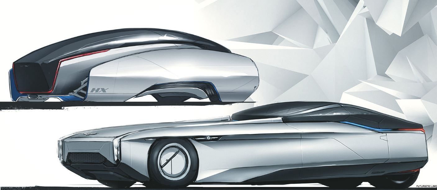 Futuristic limousine concept