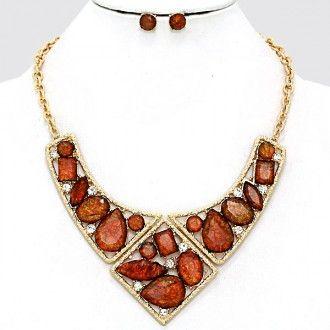 Colorado topaz cluster necklace in stock today