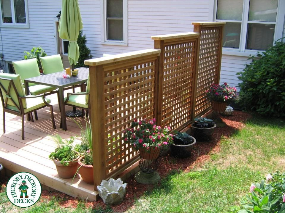 Privacy screenondeck this is a 12x 16 foot deck with for Lattice yard privacy screen