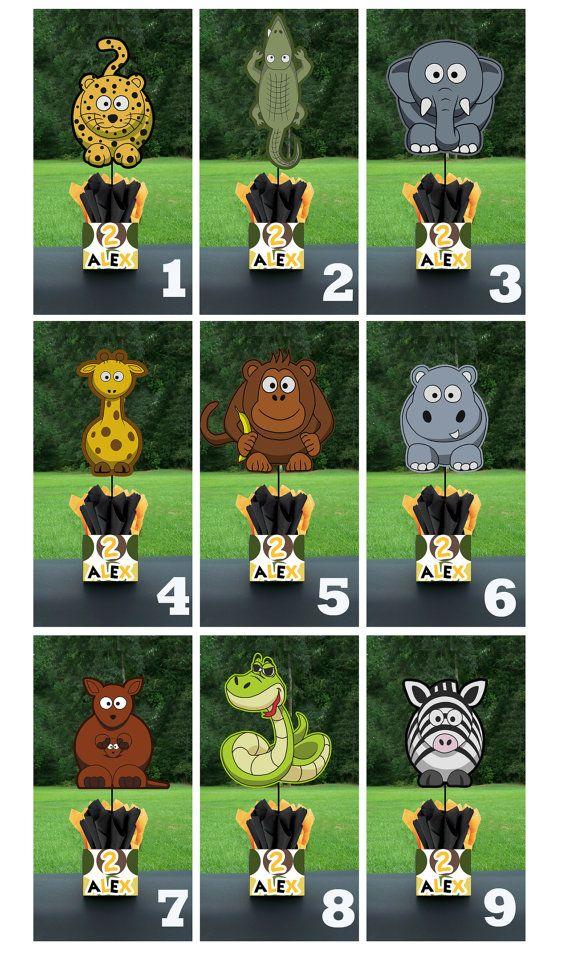 Safari Jungle Zoo Birthday Party Centerpieces Playpatternsnet