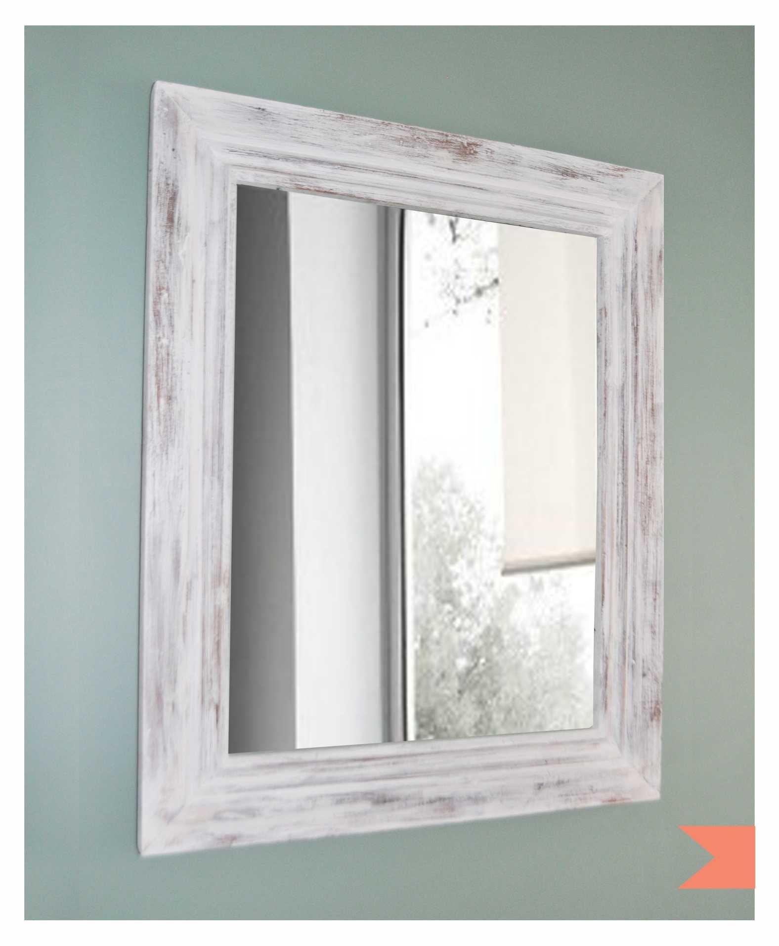 marco patinado envejecido de madera con espejo 400 en