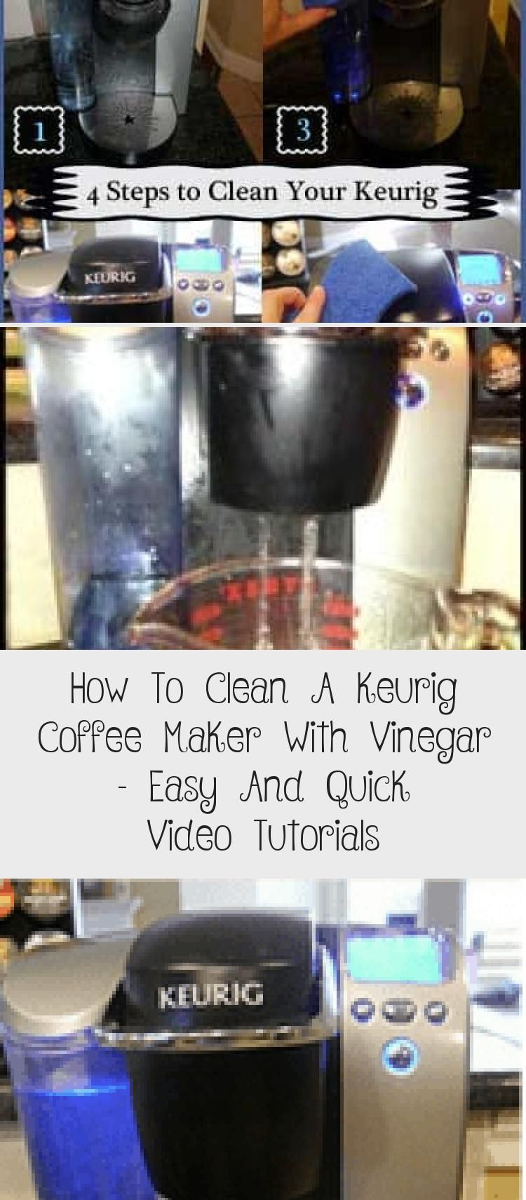 How to clean a keurig coffee maker with vinegar easy and