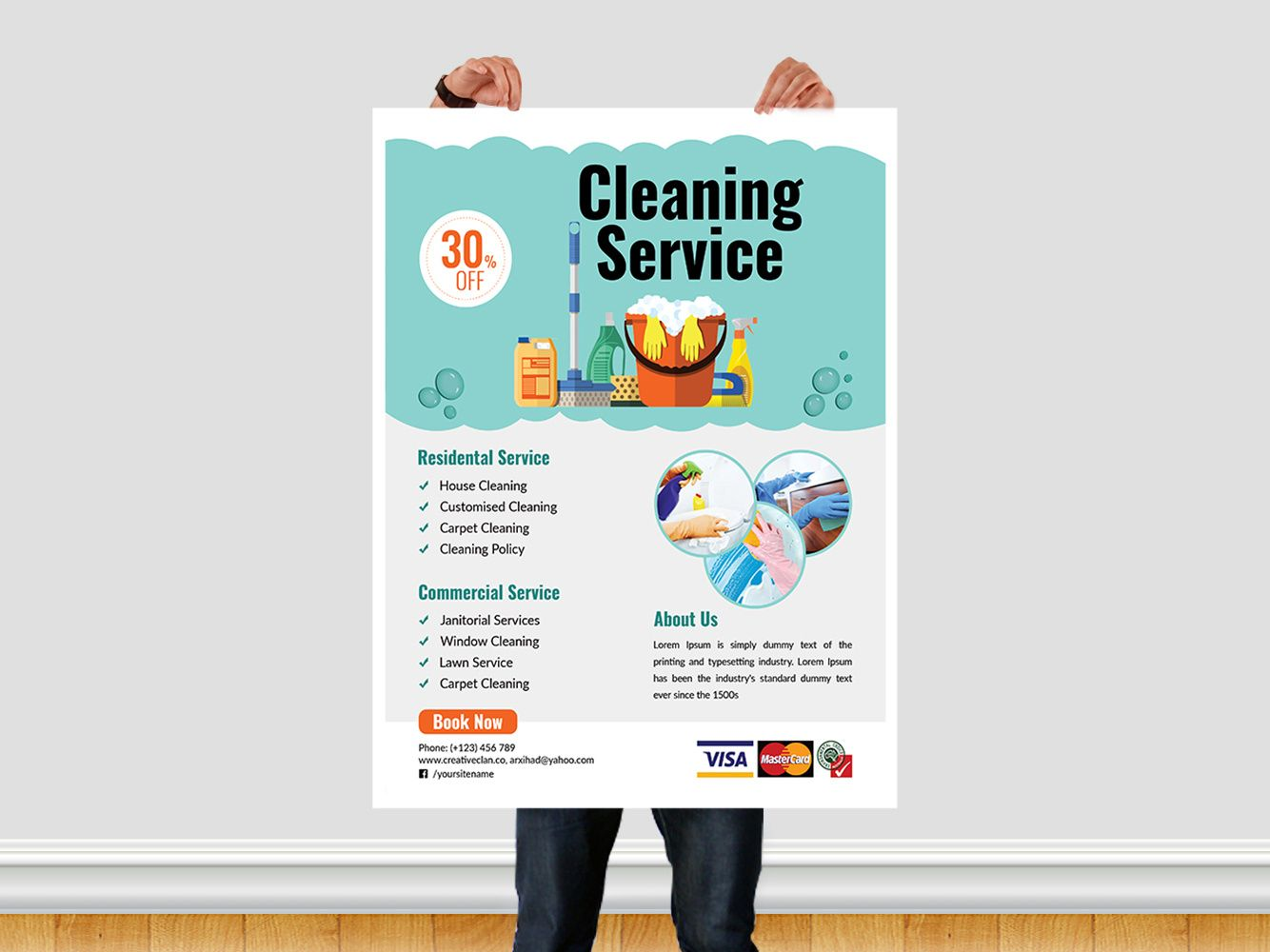 Cleaning Service Flyer Templatear Xihad On Dribbble inside