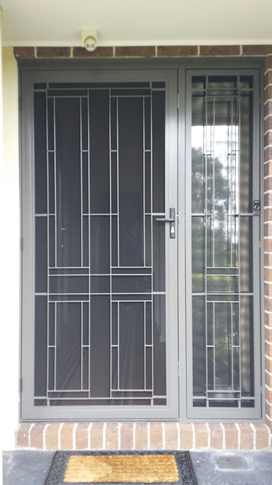 Aluminium Frame Security Door With Steel Grille And Stainless Steel