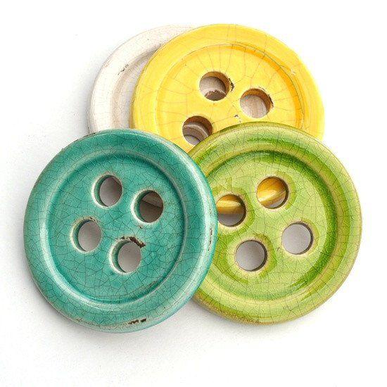 Ceramic Button Pattern Weight Set - Notions - Style Maker Fabrics ...