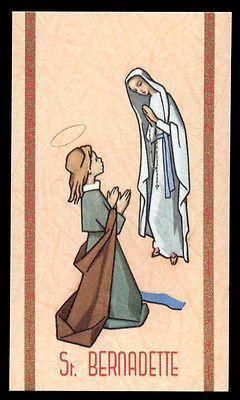 santino-holy card ediz. FB serie heavenly n.7 S.BERNADETTE SOUBIROUS V.