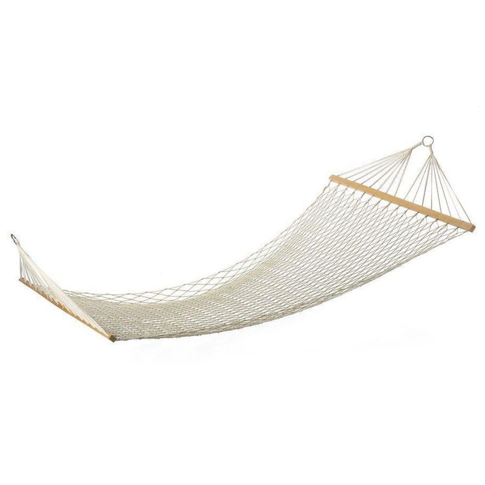 person outdoor swing hanging cotton bed patio spreader hammock