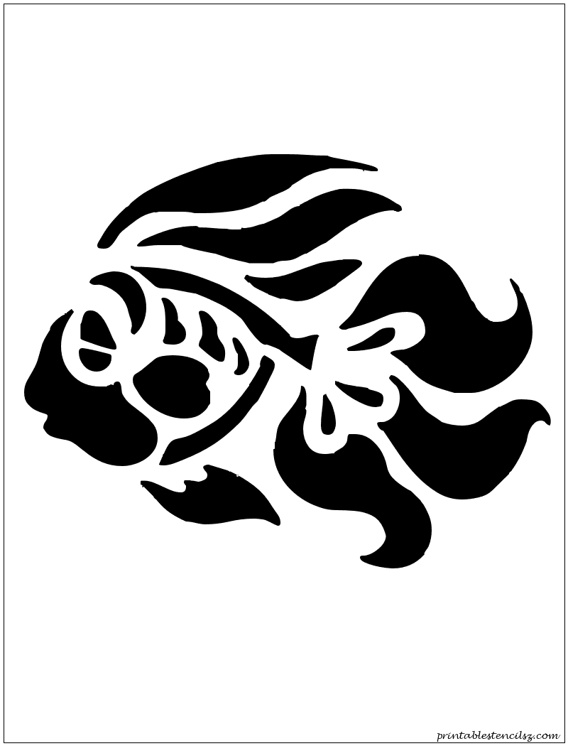 graphic relating to Fish Stencil Printable titled A lot OF Printable Stencils Templates / Silhouettes Fish