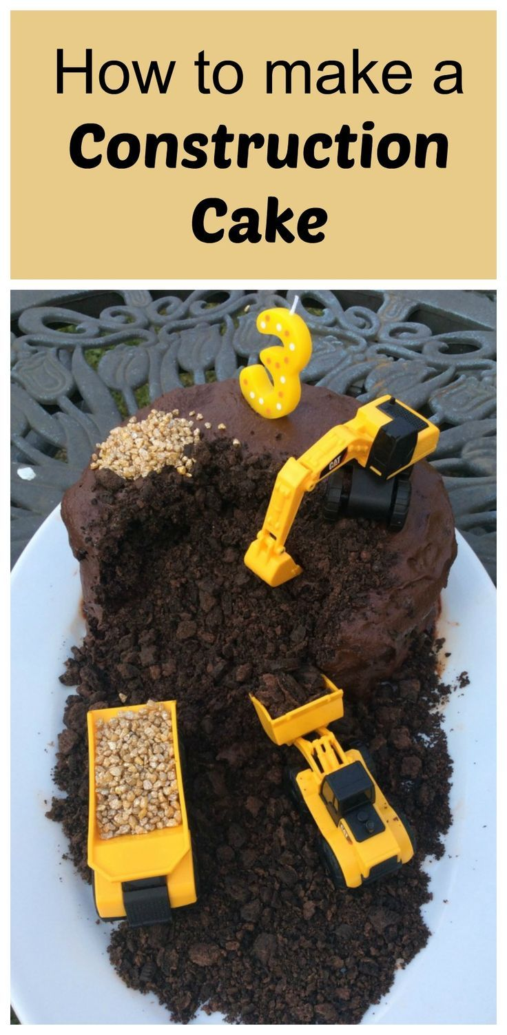 This construction cake is the perfect birthday cake for any digger