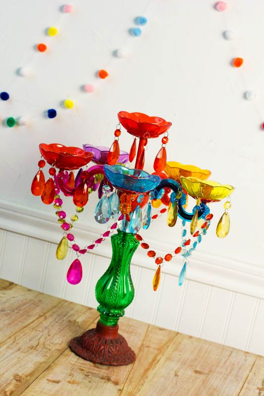 our colorful funky candelabra is always a favorite this would be