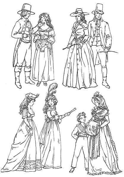 English Fashion 1790-1795: