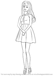Image Result For Easy Barbie Drawings Barbie Drawing Barbie Coloring Drawings