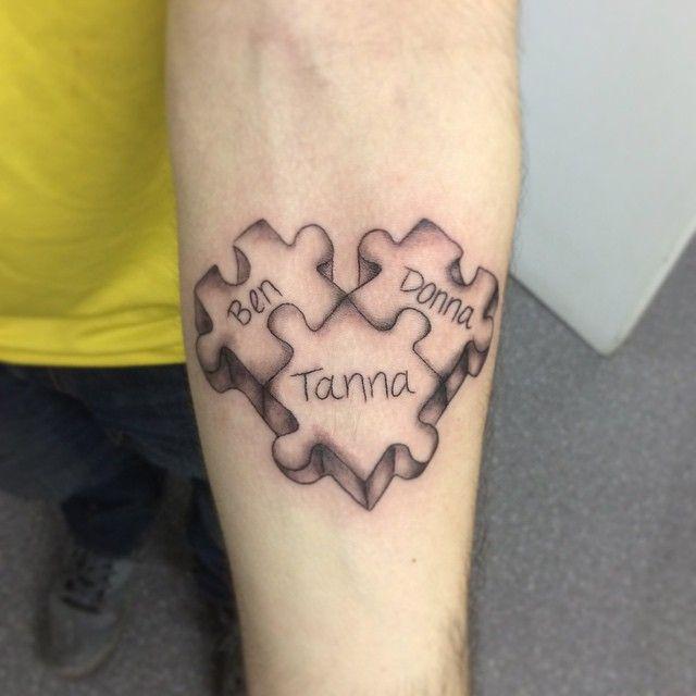 puzzle piece tattoos | puzzel | pinterest | pieces tattoo, tattoos