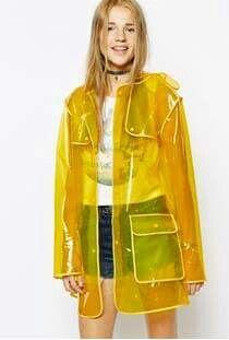 b6391862c63 Yellow plastic jacket. Yellow plastic jacket Cute Rain Jacket