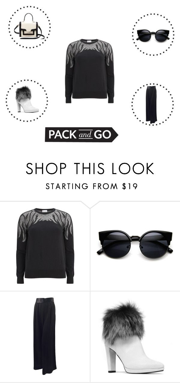 """""""let's go"""" by menskah ❤ liked on Polyvore featuring RED Valentino, Karl Lagerfeld, Stuart Weitzman, Kate Spade, women's clothing, women, female, woman, misses and juniors"""