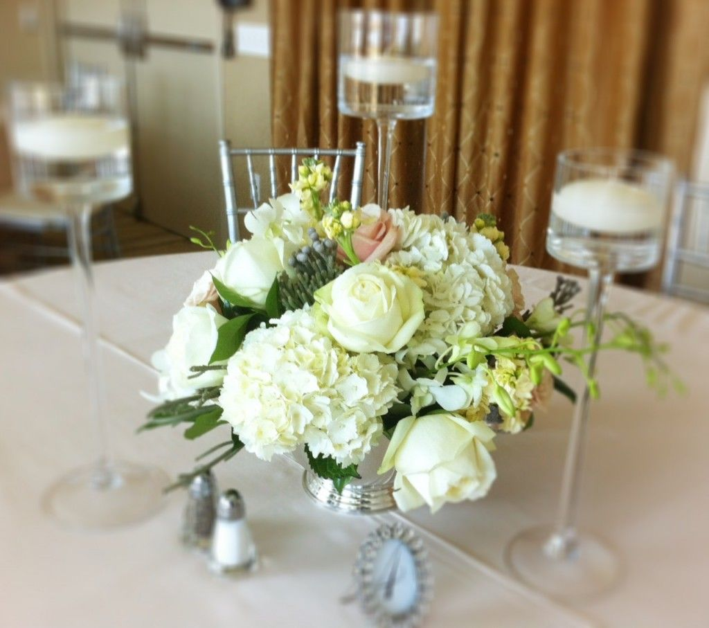 Centerpiece Ideas With Silver Or Clear Candle Holders Different
