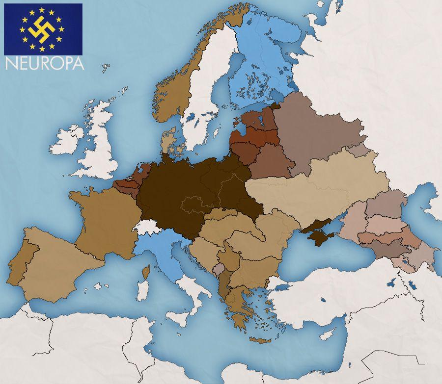 Uuden Euroopan Kartta Fantasy Map Map Alternate History