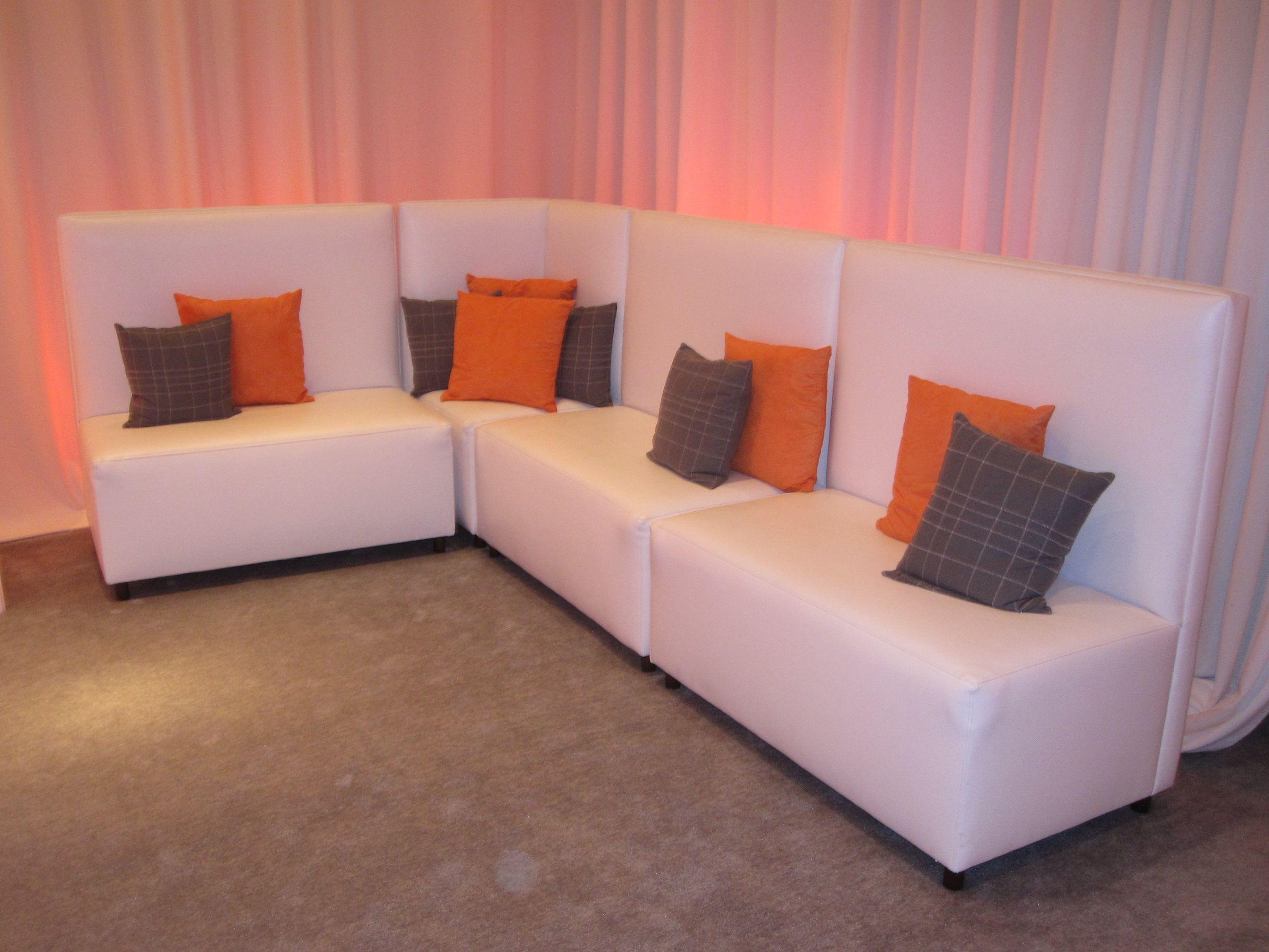 gray sofa orange pillows - photo #26