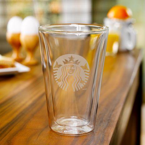 Starbucks Double Wall Glass 14 Fl Oz Double Wall Glass Glass Coffee Tea Cups