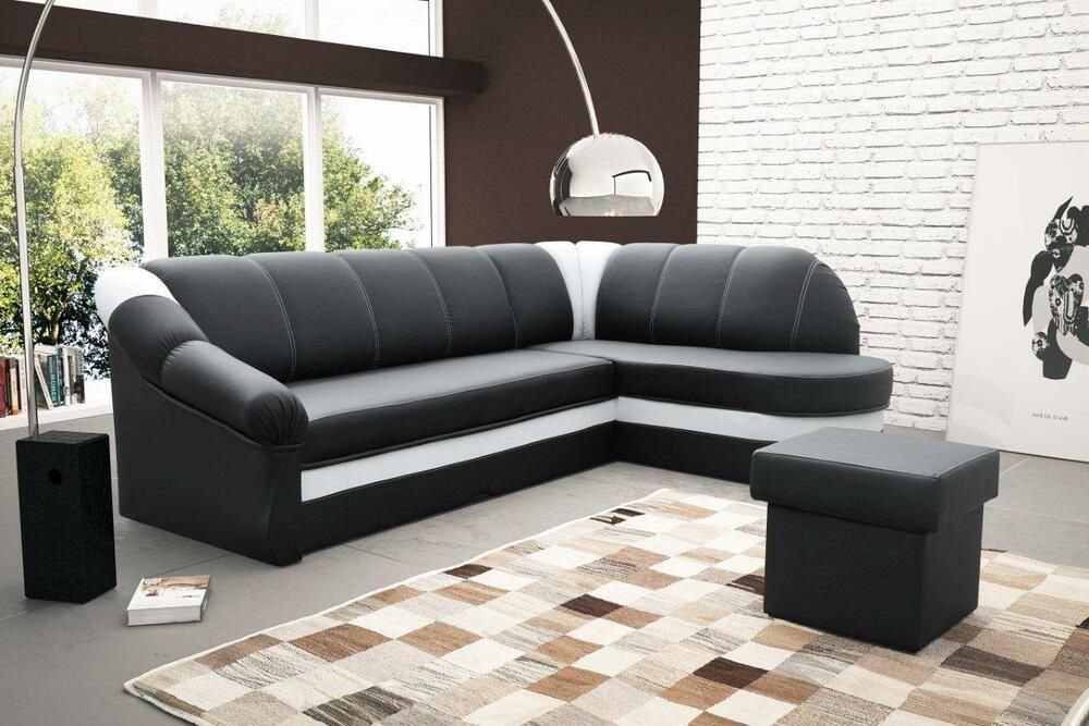 Sofa Couchgarnitur Benamo Couch Federkern Polesterecke Mit