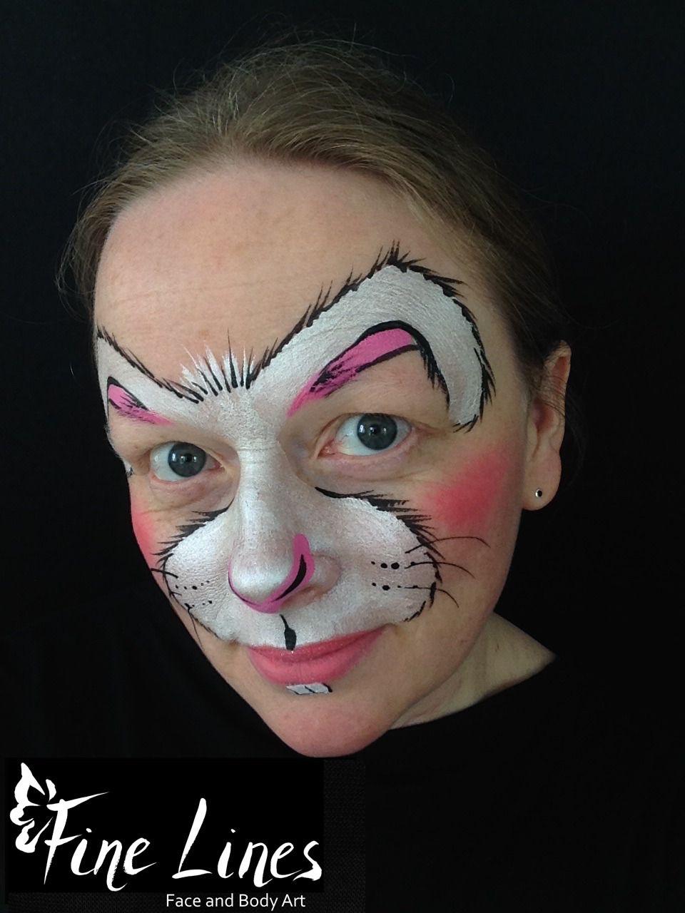 Rabbit face painting Leipzig-  Hase Kinderschminken Leipzig , Fine Lines Face and Body Art  Kinderschminken Leipzig