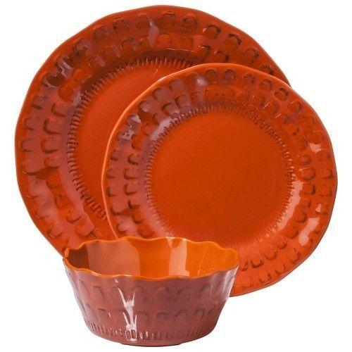 Threshold Granby Scallop 12 Piece Dinnerware Set - Orange  sc 1 st  Pinterest & Threshold™ Granby Scallop 12 Piece Dinnerware Set - Orange ...