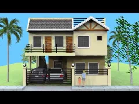 Small 2 Storey House With Roofdeck 2 Storey House Design Two Story House Design Small House Design Philippines