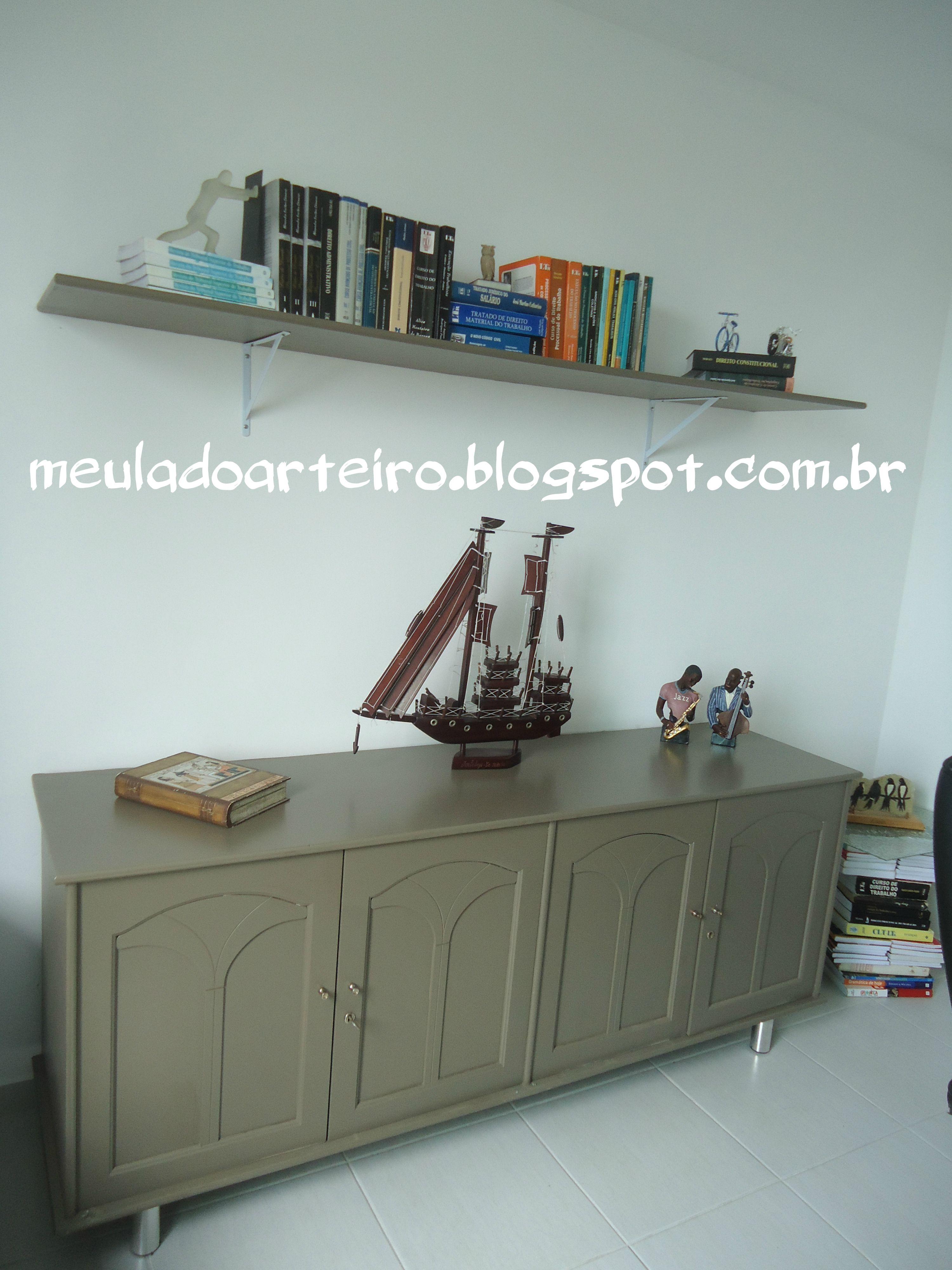 Estante velha foi transformada em balcão, PAP no blog http://meuladoarteiro.blogspot.com.br/2014/03/estante-transformada-em-balcao.html