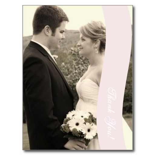 Wedding Thank You Card Post Cards